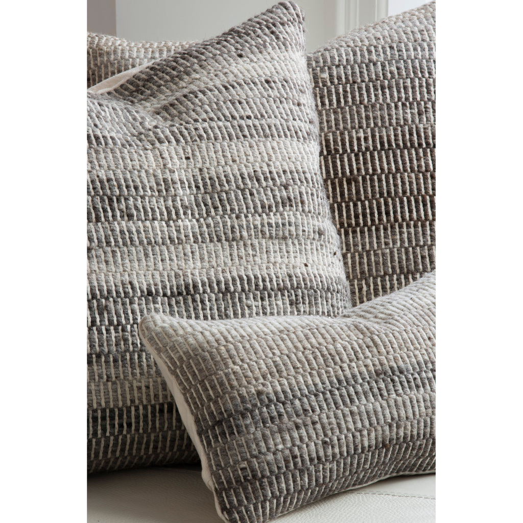 Greige Melange Oscuro Pillow Cover by Madda Studio