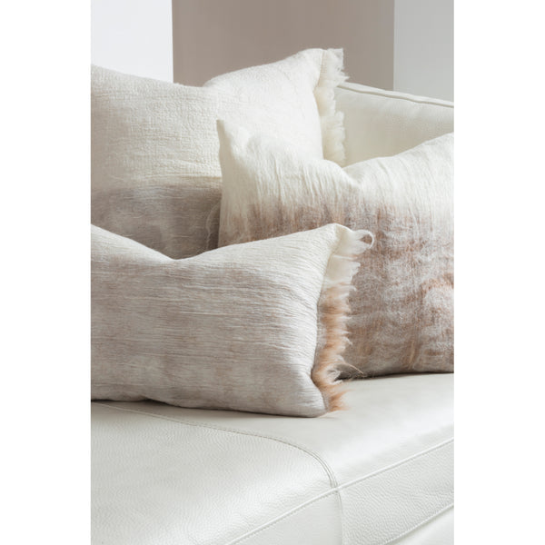 Nuno Pillow Cover Beige/White Natural Edge by Madda Studio