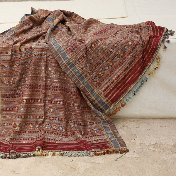Dhabda Design - Lac Dye Shawl by Siju Shamji Vishram (INDIA)