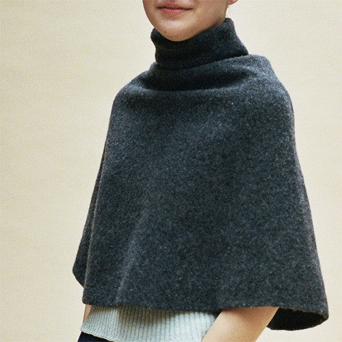 Cecilie Telle, High Neck Poncho