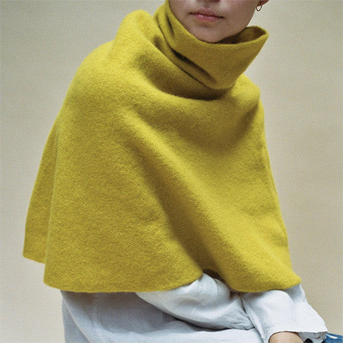Cecilie Telle, High Neck Poncho - Selvedge Magazine