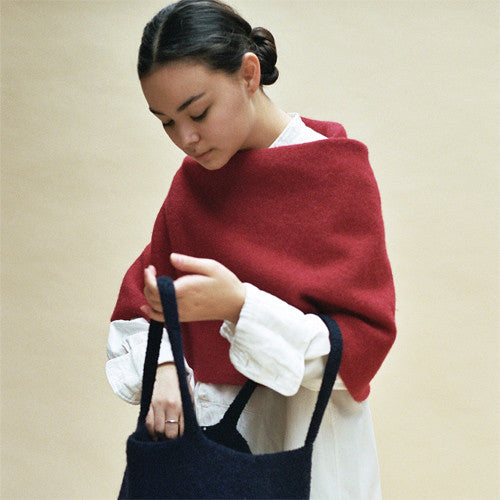Cecilie Telle, Poncho, Round Long - Selvedge Magazine