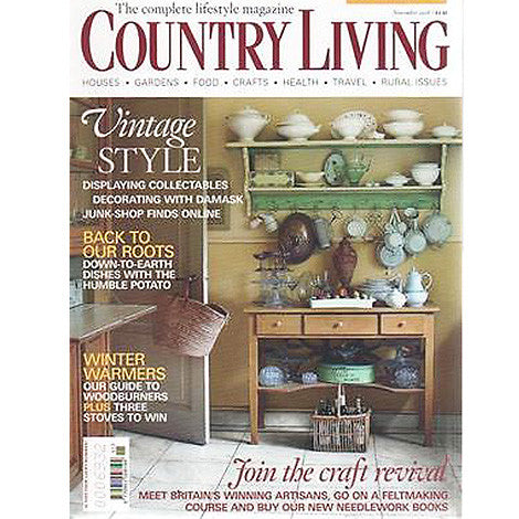 Country Living, November 2008 - Selvedge Magazine