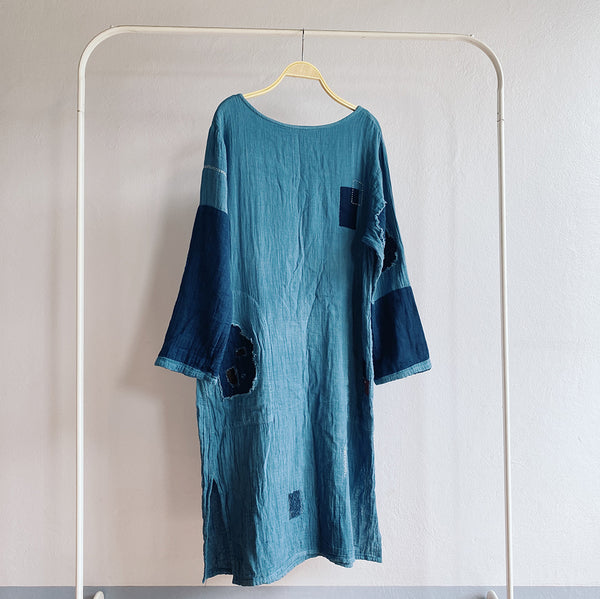 Natural dyed patchwork Dress by Farmer Rangers (THAILAND)
