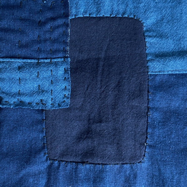 Indigo dyed patchwork Jacket by Farmer Rangers (THAILAND)