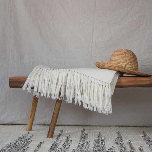 Argentina, Miguel Fernandez / Maydi,SIMPLE Hand-Loom Throw in Natural