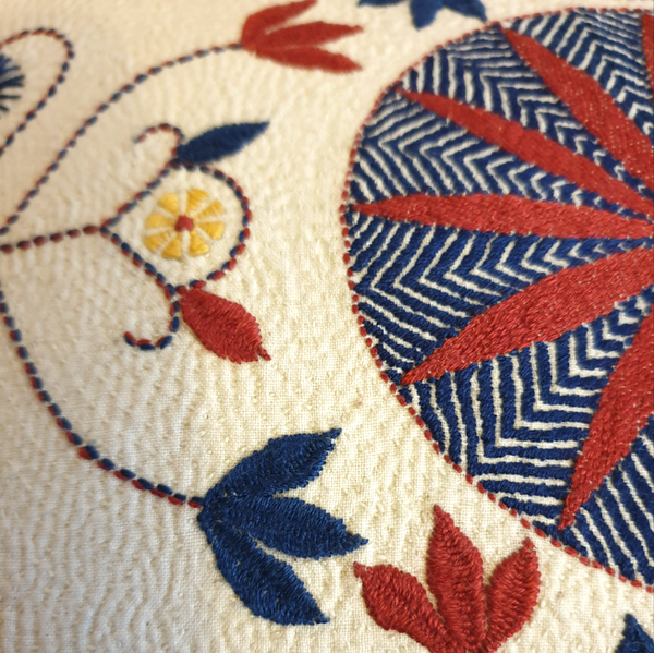 5 September, 9-11am BST, Khantha Embroidery, Virtual Workshop with Hushnohana (India)
