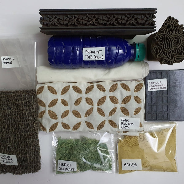 Material Pack for 4 September 2020, 9-11am BST, Block Printing, Virtual Workshop with Dheeraj Chhipa (India)