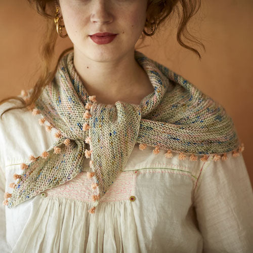 How to make a tiny tassels shawl by Karin Fernandes for Loop London