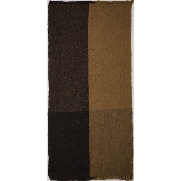Turkey, Black & Brown 2 Panel Handwoven Goats Wool Rug by Vedat Demiralp
