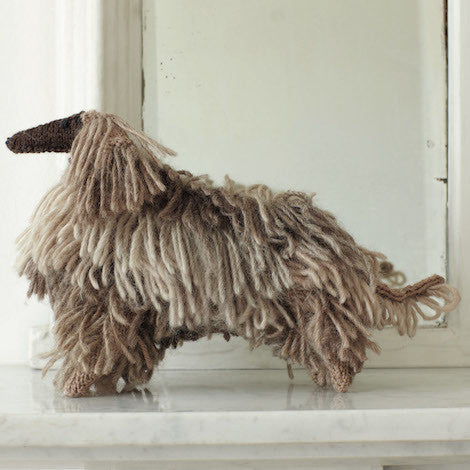How to knit an Afghan Hound