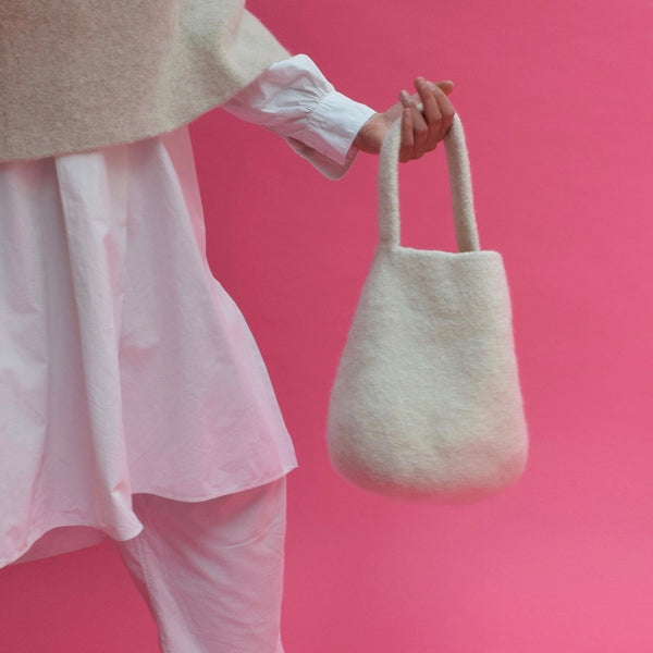 Ivory Bucket Bag by Cecilie Telle (NORWAY)