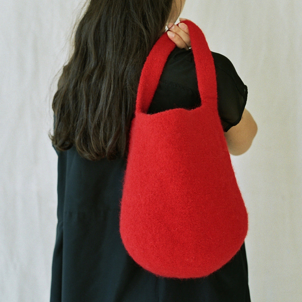 Norway, Cecilie Telle, Scarlet Bucket Bag