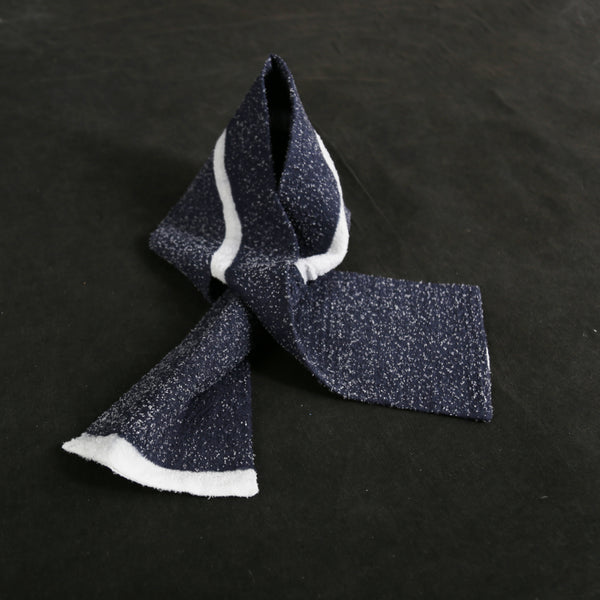Navy Cosmos Scarf by Oma Space (South Korea)