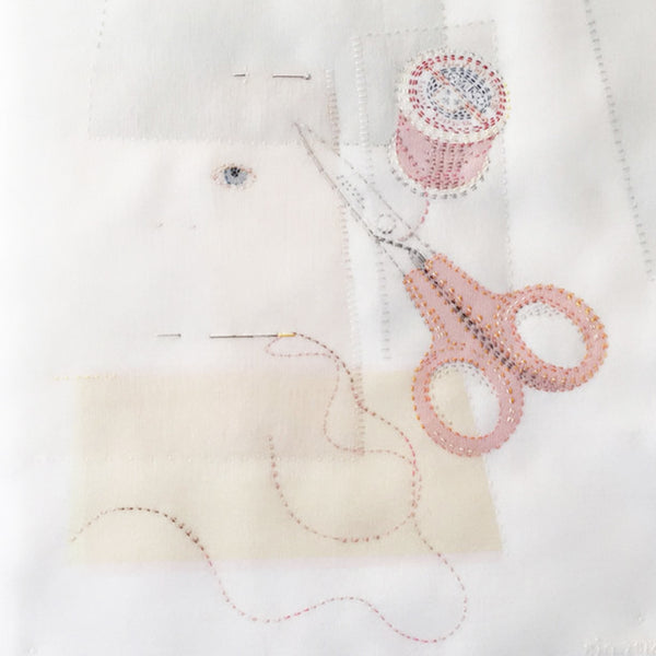22-29 August 2020, Emily Jo Gibbs, Embroidered Images, Working with Silk Organza and Hand Stitch