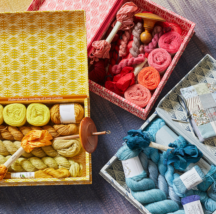 The Selvedge Haberdashery Box by Cambridge Imprint (Assortment of Colours Available)