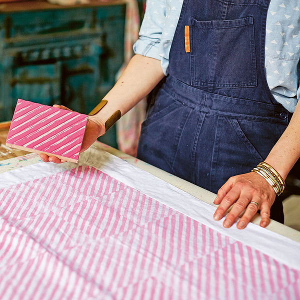 How to make a block printed tablecloth with Molly Mahon
