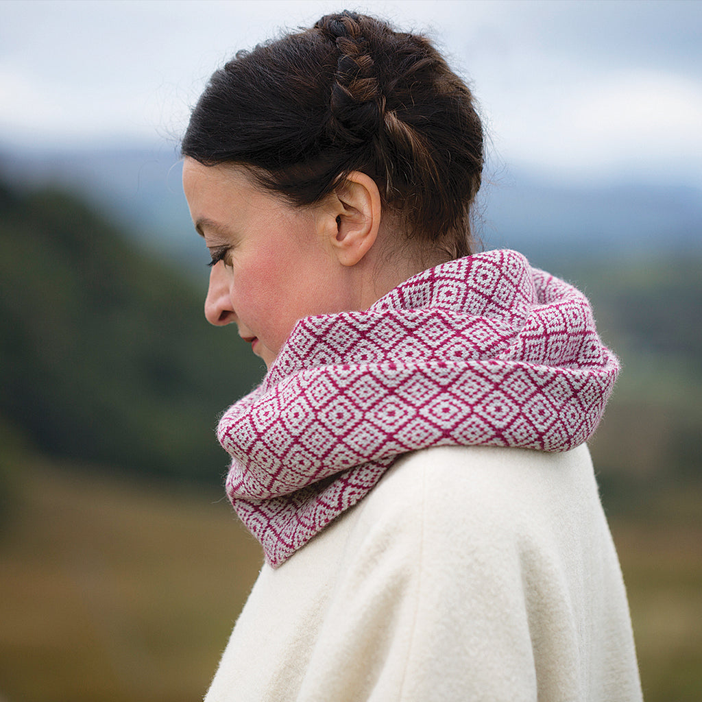 Win a collection of yarns, snood and book from Kate Davies Designs