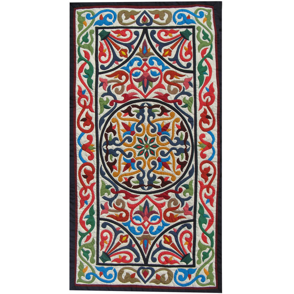 Al-Roumy Lotus Design Wall Hanging by Ashraf Hashim, Tentmakers of Cairo (Egypt)
