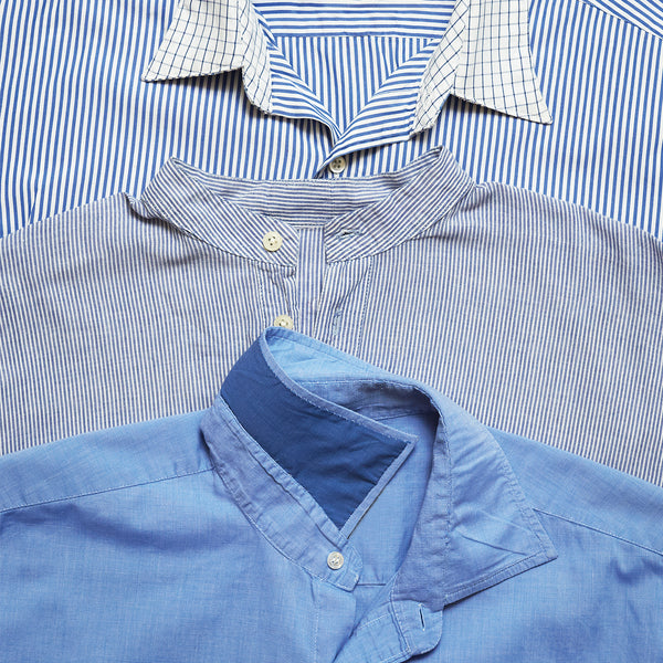 How to repair a worn shirt collar