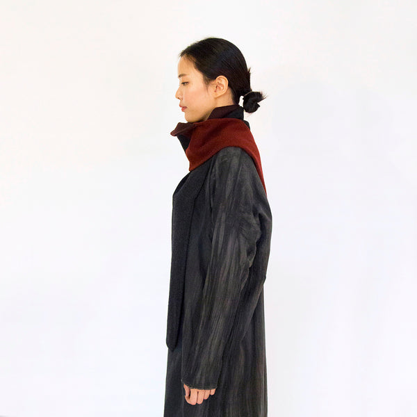 Wine Stitch Wool Scarf by Oma Space (South Korea)