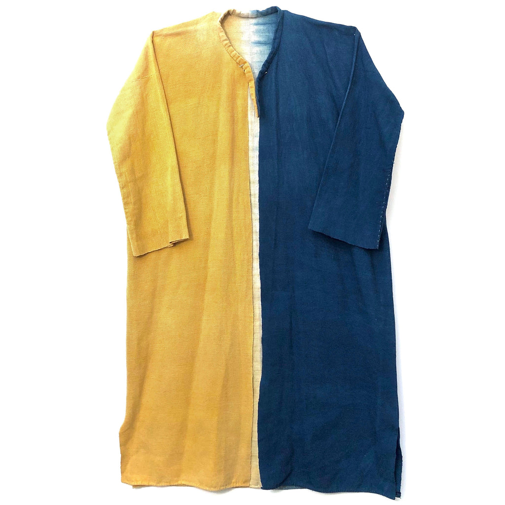 Goldenrod & Indigo Two-Tone Robe by Somporn Intaraprayong (Thailand)