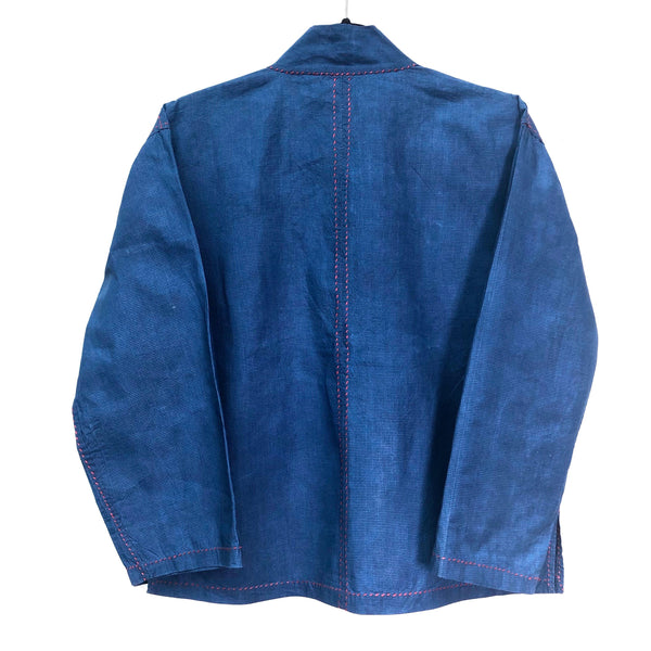 Thailand, Somporn Intaraprayong , Indigo Jacket with Red Stitching