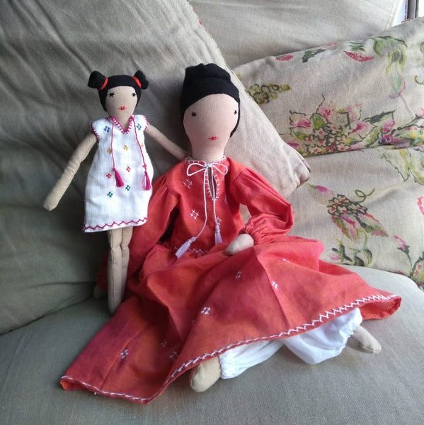 India, SilaiWali, Textile Dolls