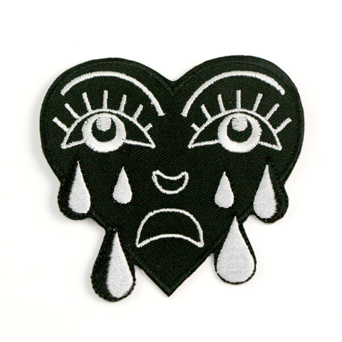 Crying Heart Patch (Black & White)