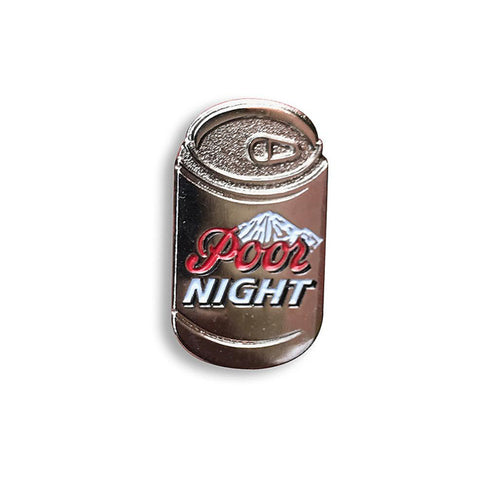 Coors Light aka Poor Night Enamel Pin