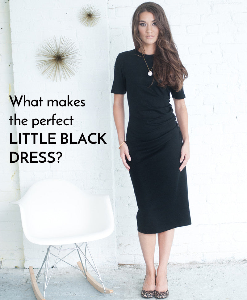 What makes the perfect little black dress?