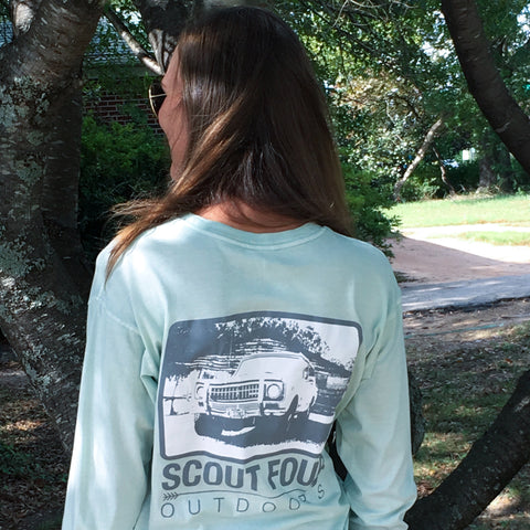 Scout Four Outdoors International Scout Long Sleeve Pocket Tee-Mint