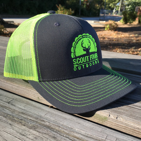 74f3987c11bf7 Scout Four Outdoors hunting deer and turkey trucker hat