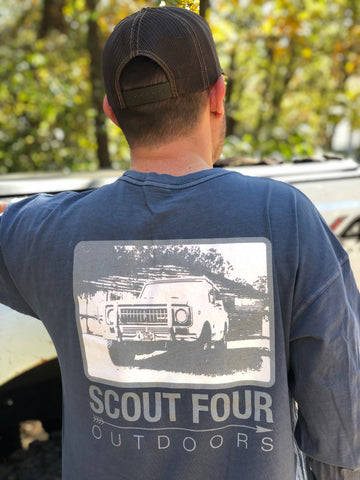 Scout Four Outdoors International Scout Long Sleeve Pocket Tee-Navy