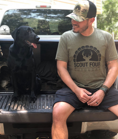 Scout Four Outdoors Army Classic Logo Short Sleeve Tee