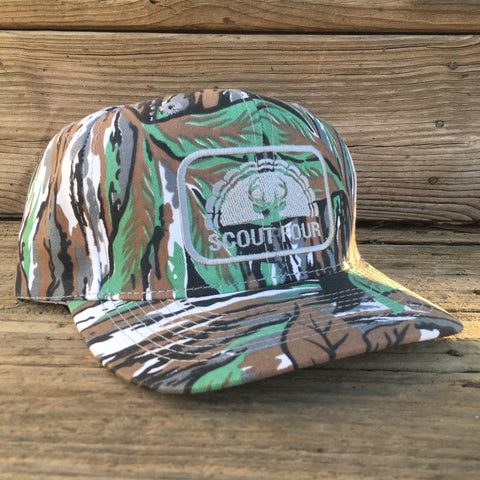 Scout Four Outdoors OG Green Leaf Camo Stamp Hat