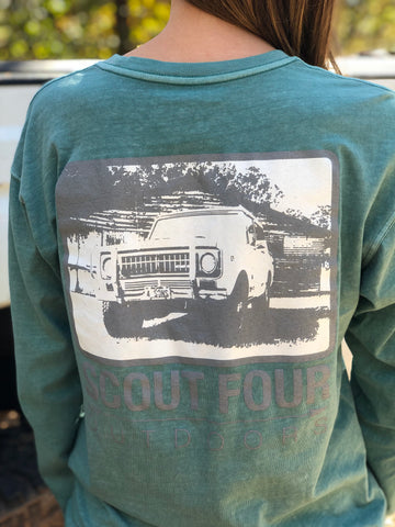 Scout Four Outdoors International Scout Long Sleeve Pocket Tee-Seafoam