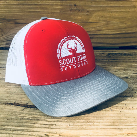 Scout Four Outdoors hunting deer and turkey trucker hat