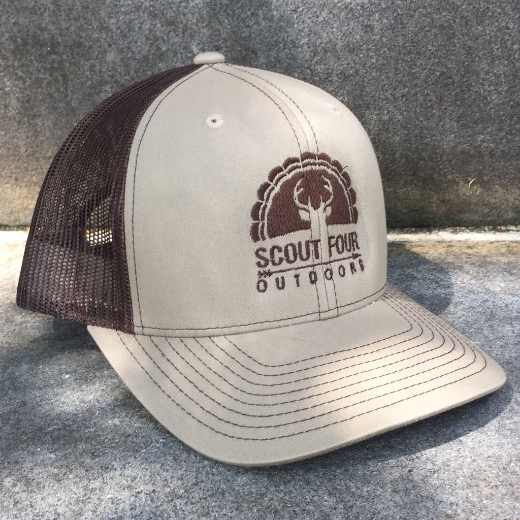 d05d940acfa2a Scout Four Outdoors hunting deer and turkey trucker hat