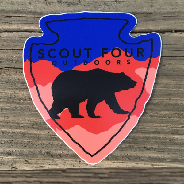 Scout Four Outdoors Arrowhead Decal