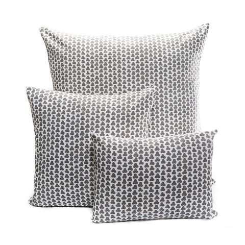 Three Leaf Clover in Gray Pillows