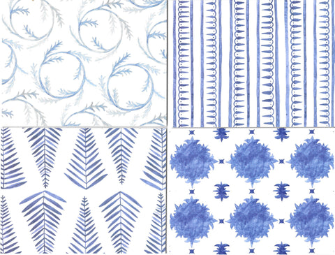 Note Cards - blue (set of 16)
