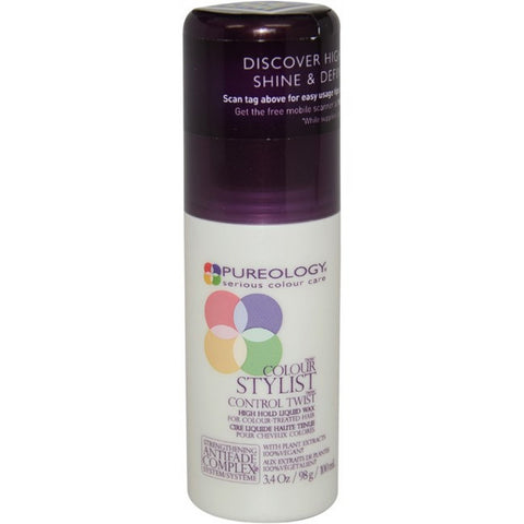 Pureology Colour Stylist Control Twist High Hold Liquid Wax (3.4 fl oz / 100 ml)