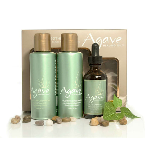 Agave Take-Home Smoothing Haircare Trio (set) ($48 value)