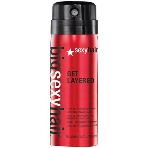Sexy Hair Big Sexy Hair Get Layered Flash Dry Thickening Hairspray (1.3 oz / 45 ml)