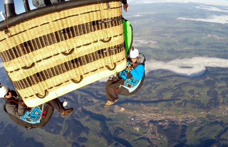 Paragliding From New Highs
