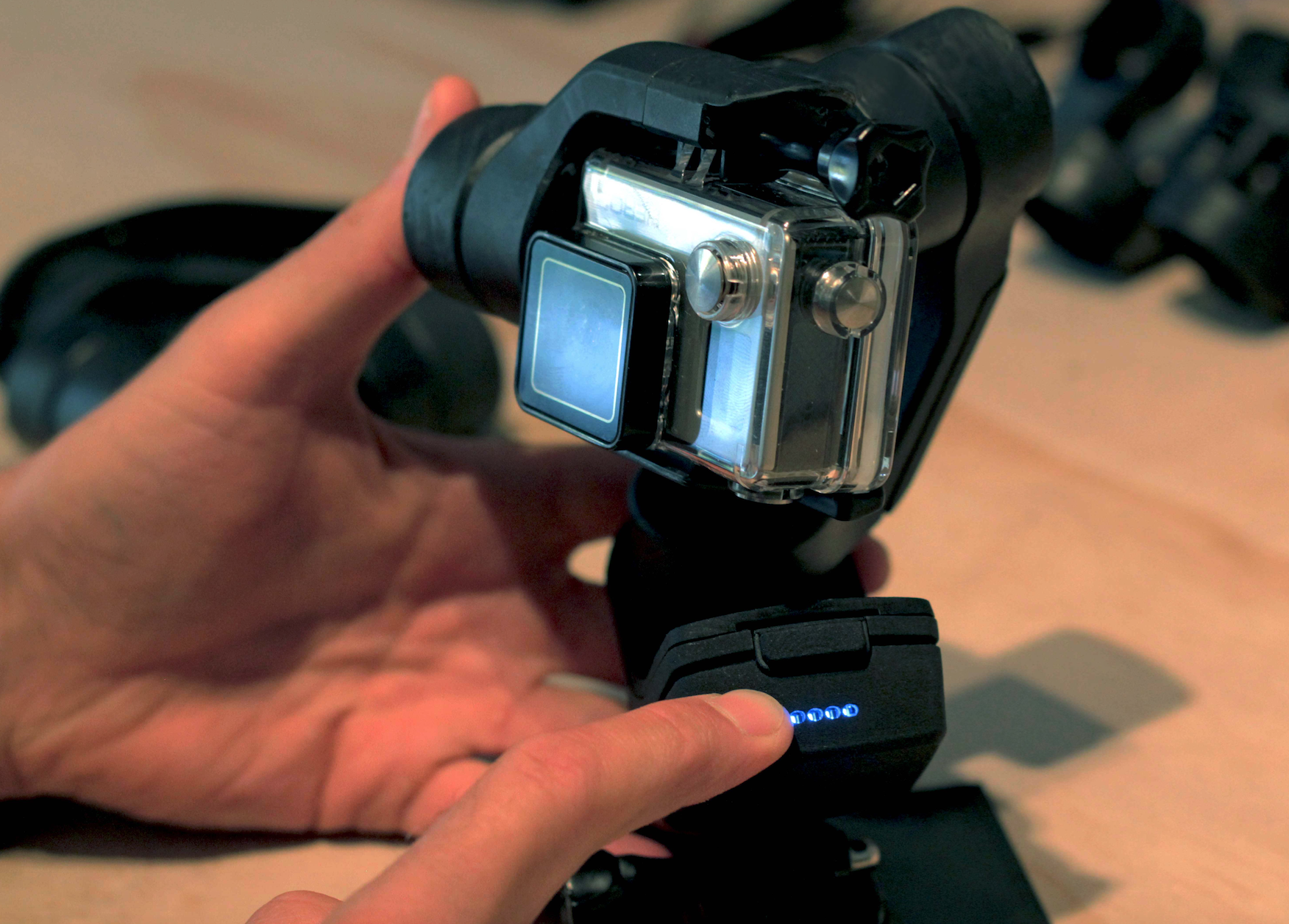 Slick GoPro gimbal offers a variety of modes!