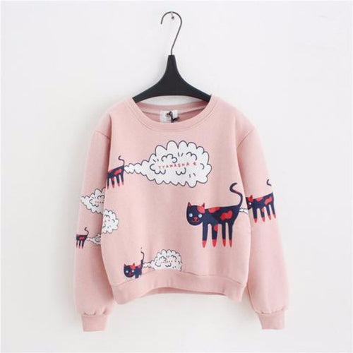 Cat Cartoon Sweatshirt
