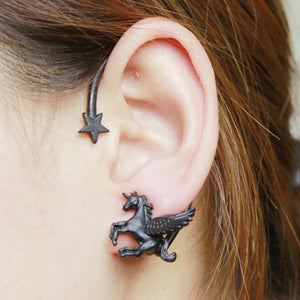 Trendy Unicorn Cuff Earrings