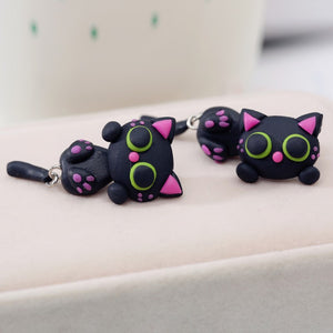 Sweet Black Cat Earrings